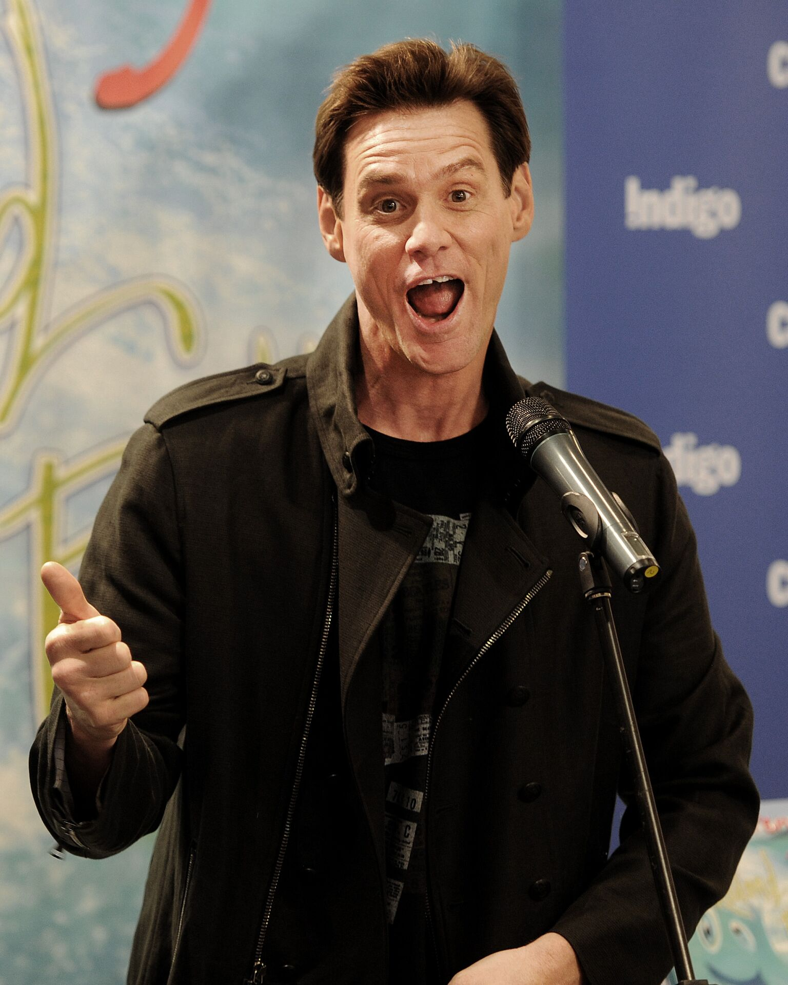Jim Carrey hosts a signing for his children's book 'How Roland Rolls' at Indigo at Yorkdale Mall | Getty Images