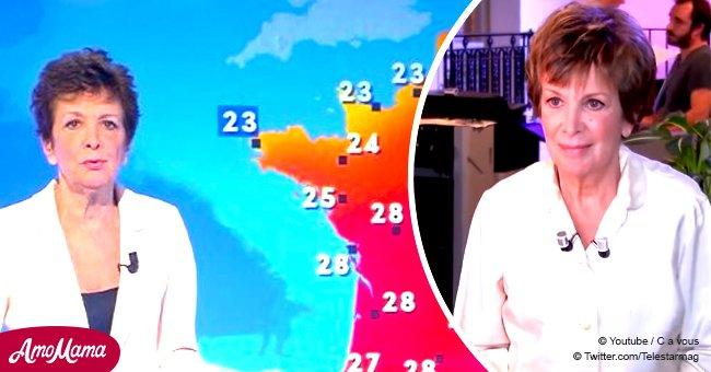Malgré la maladie, Catherine Laborde fait une brève apparition à la télévision et voici à quoi elle ressemble