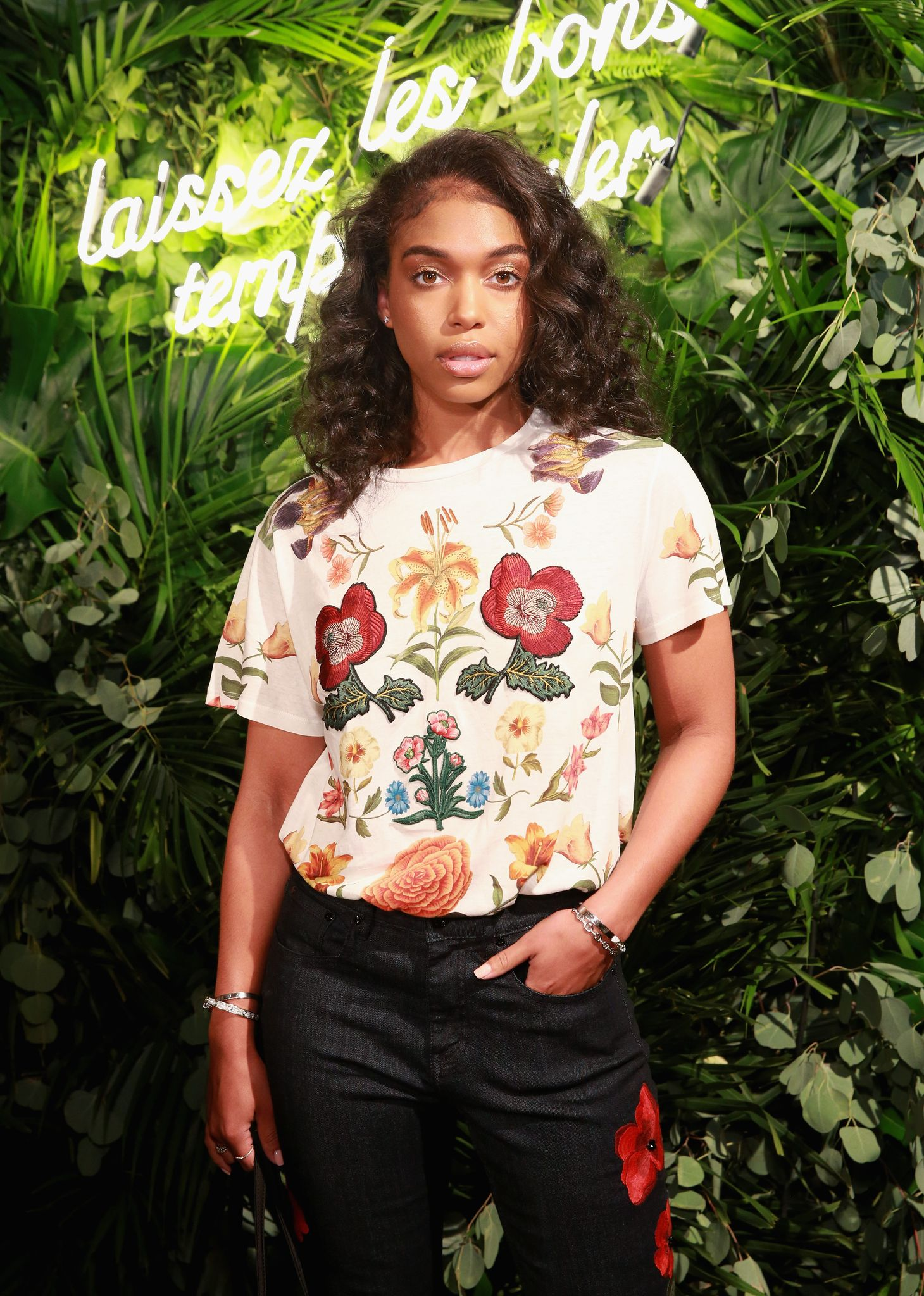 Lori Harvey at Kate Spade Presentation on September 8, 2017 in New York.   Photo: Getty Images