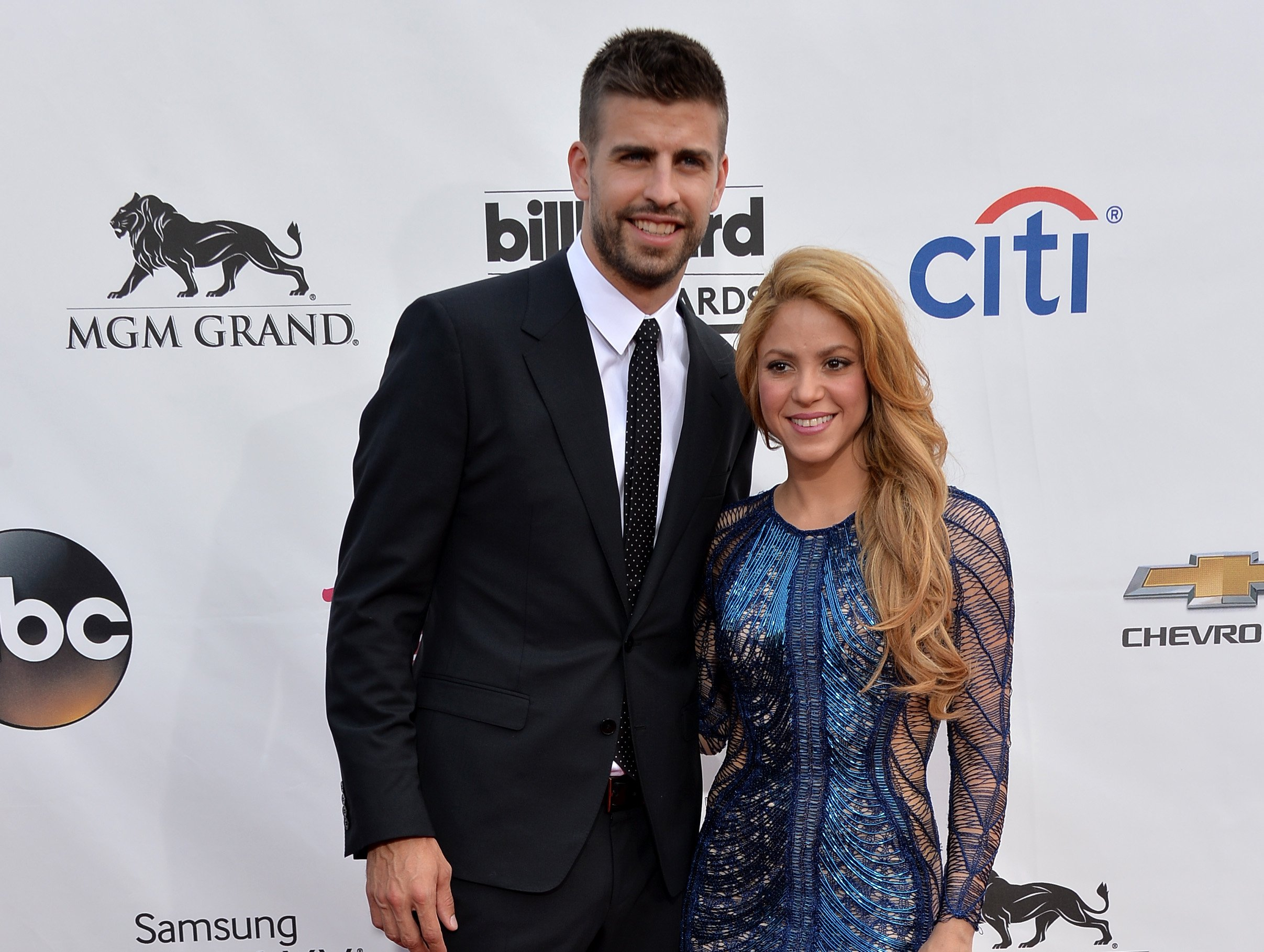 Shakira and FC Barcelona soccer player Gerard Pique attend the 2014 Billboard Music Awards in Las Vegas. | Photo: Getty Images
