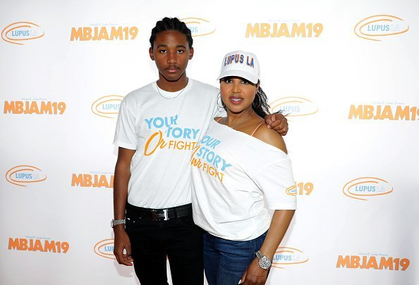 Toni Braxton and her son Diezel at Michael B. Jordan's MBJAM at Dave & Buster's Hollywood on July 27, 2019 | Photo: Getty Images