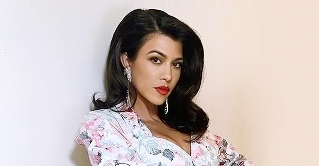 Kourtney Kardashian Flaunts Toned Legs in a Retro Dress and Calls Herself a '40-Year-Old Virgin'