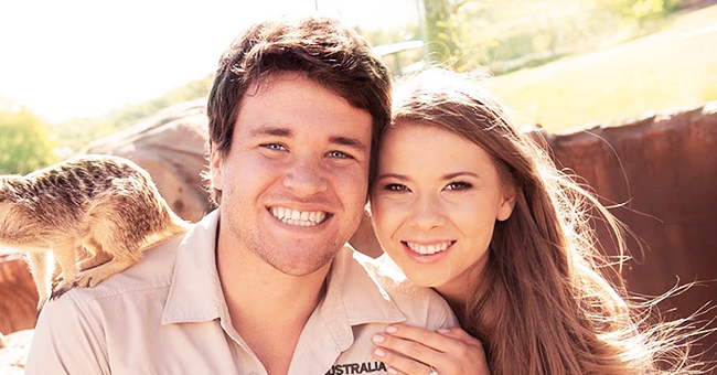 DWTS Alum Bindi Irwin and Fiancé Chandler Powell Pose with a Meerkat in New Adorable Photo