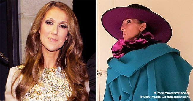 Celine Dion Combines Pink Leather Pants with Daring Coat, Her Kids Say She Looks like Mary Poppins