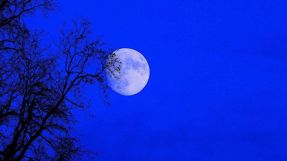 Vista de Superluna en el cielo.   Imagen: Pixabay