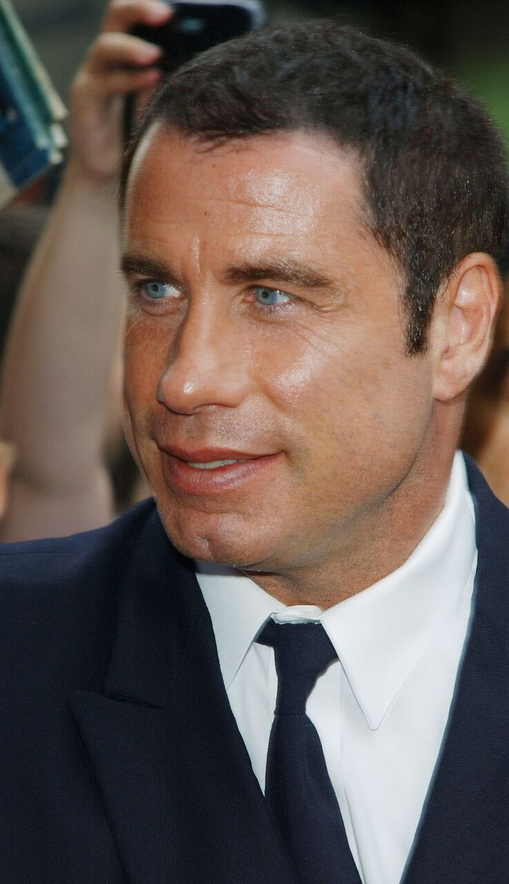 John Travolta arrives at the Ed Sullivan Theater.   Source: Getty Images