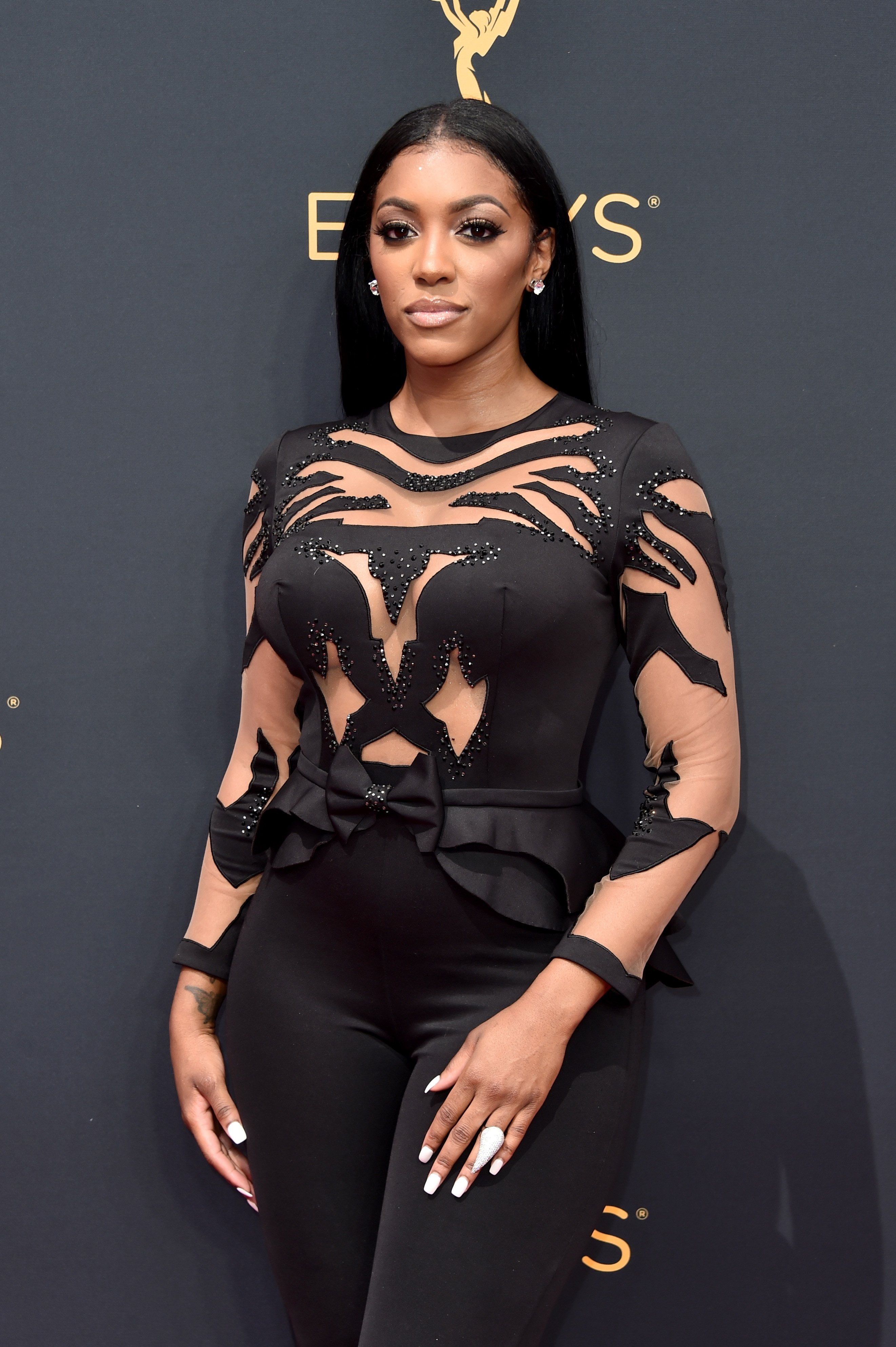 Porsha Williams at the 68th Annual Primetime Emmy Awards at Microsoft Theater on September 18, 2016 in Los Angeles, California.|Source: Getty Images