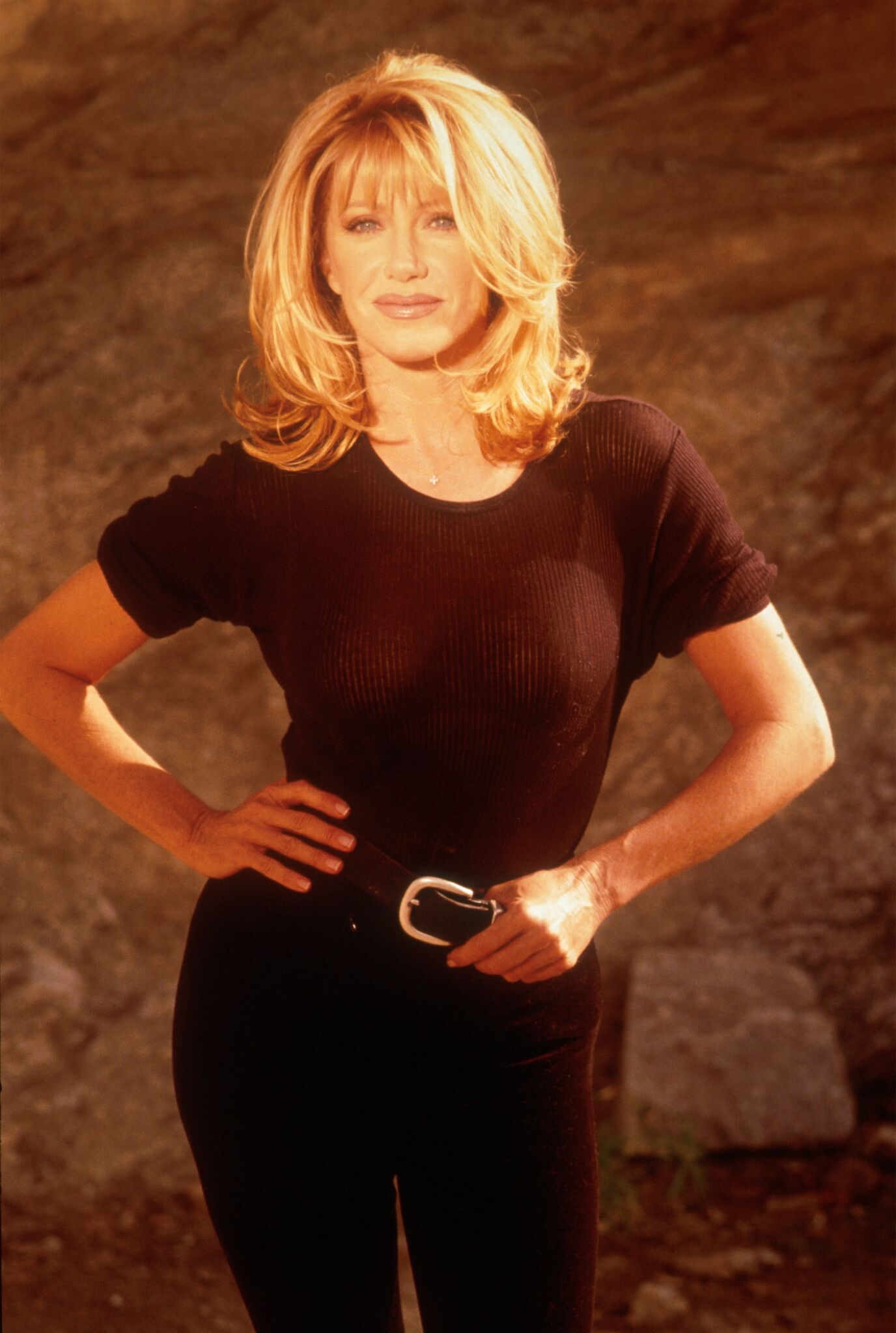 Actress Suzanne Somers poses for a portrait October 15, 1997  | Getty Images