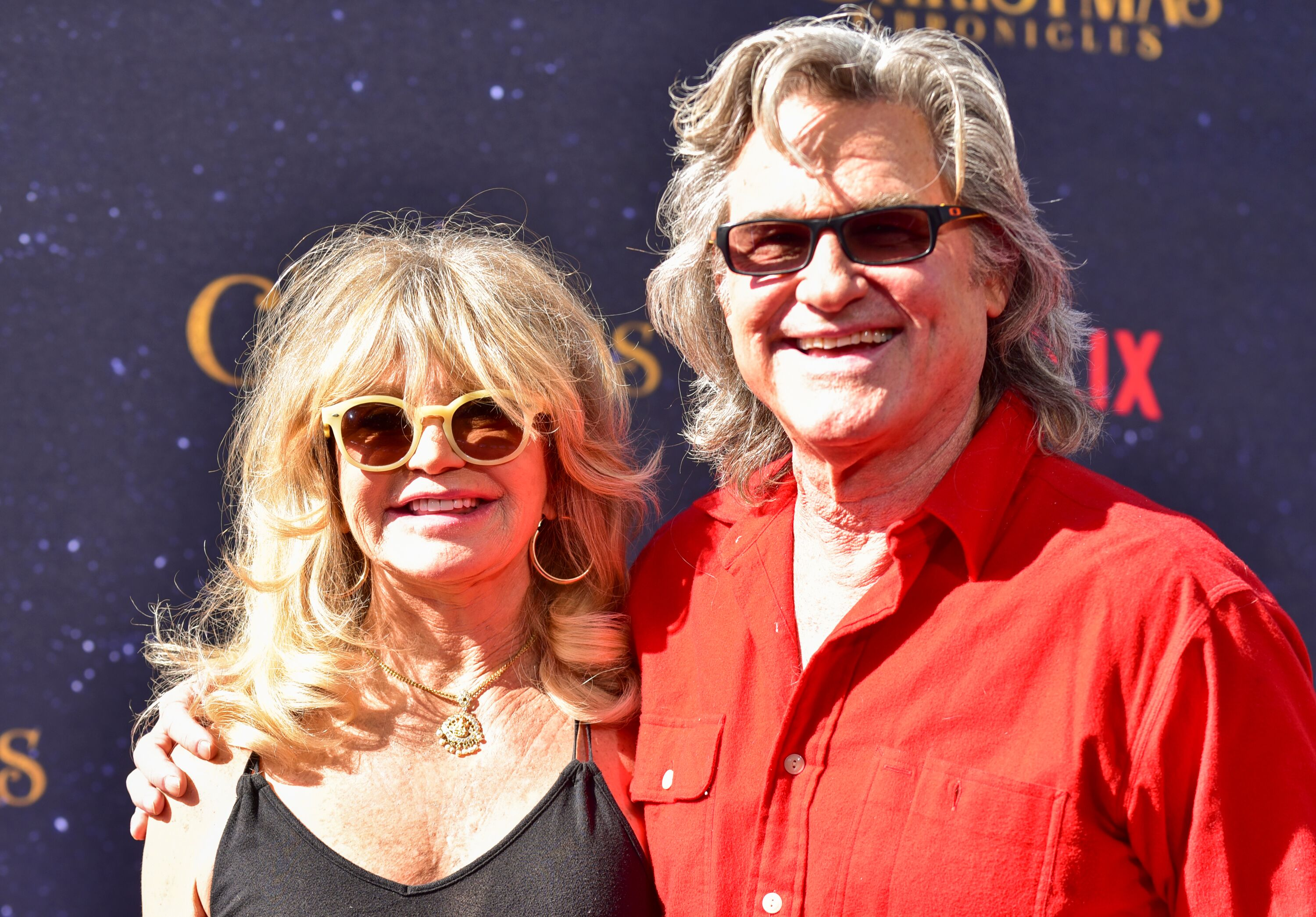 "Goldie Hawn and Kurt Russell at the premiere of ""The Christmas Chronicles."" 