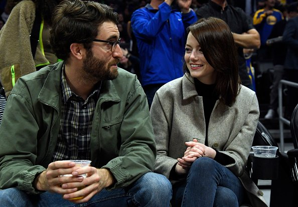 Emma Stone and Dave McCary at Staples Center on January 18, 2019 in Los Angeles, California.   Photo: Getty Images
