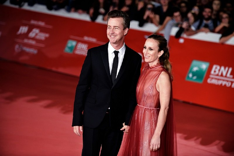 Edward Norton and Shauna Robertson at Rome Film Fest 2019 in Rome, Italy in October 2019. | Image: Getty Images.