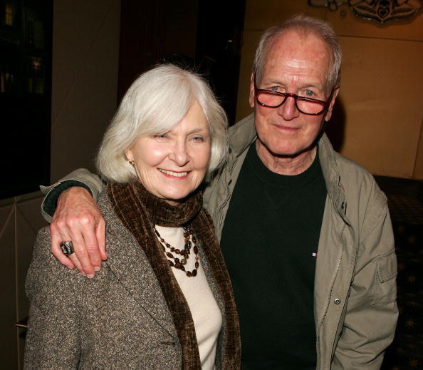 "Joanne Woodward and Paul Newman at a reception for a special screening of ""The Woodsman"" on January 10, 2004 in New York City 