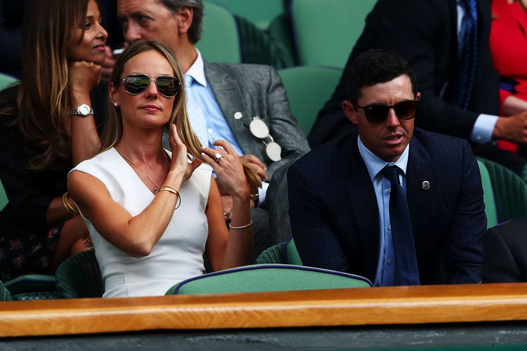 Erica Stoll and Rory McIlroy at All England Lawn Tennis and Croquet Club on July 11, 2018 | Photo: Getty Images
