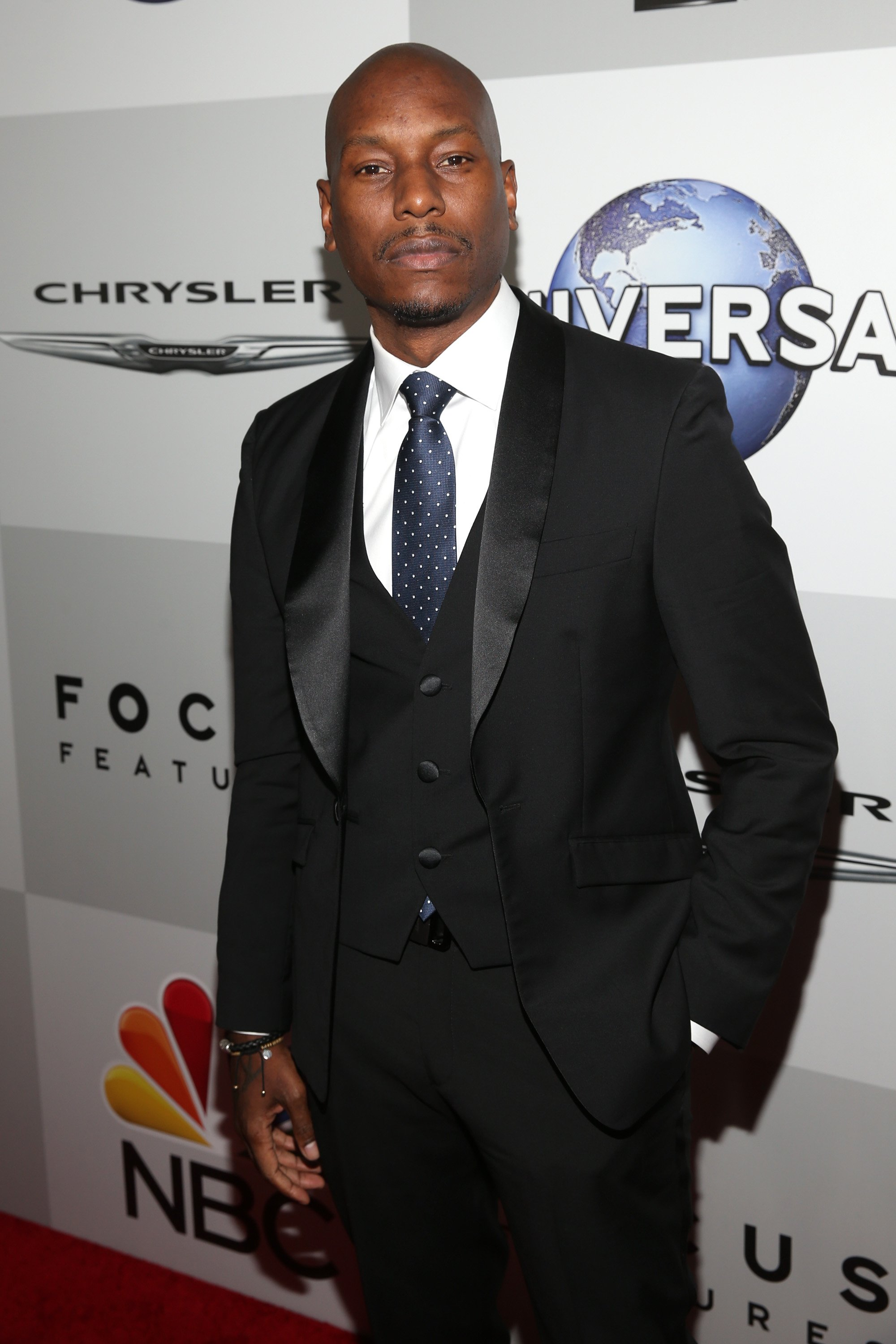 """""""Fast & Furious"""" star Tyrese Gibson attends the NBC, Universal, Focus Features and E! Entertainment's 2016 Golden Globe Awards after party in Beverley Hotel, California.   Photo: Getty Images"""
