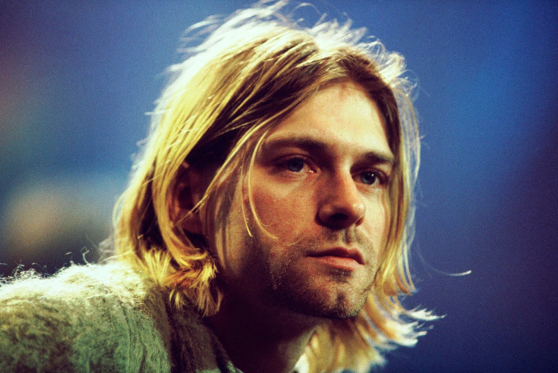 Kurt Cobain during the taping of MTV Unplugged at Sony Studios in 1993 in New York City | Source: Getty Images