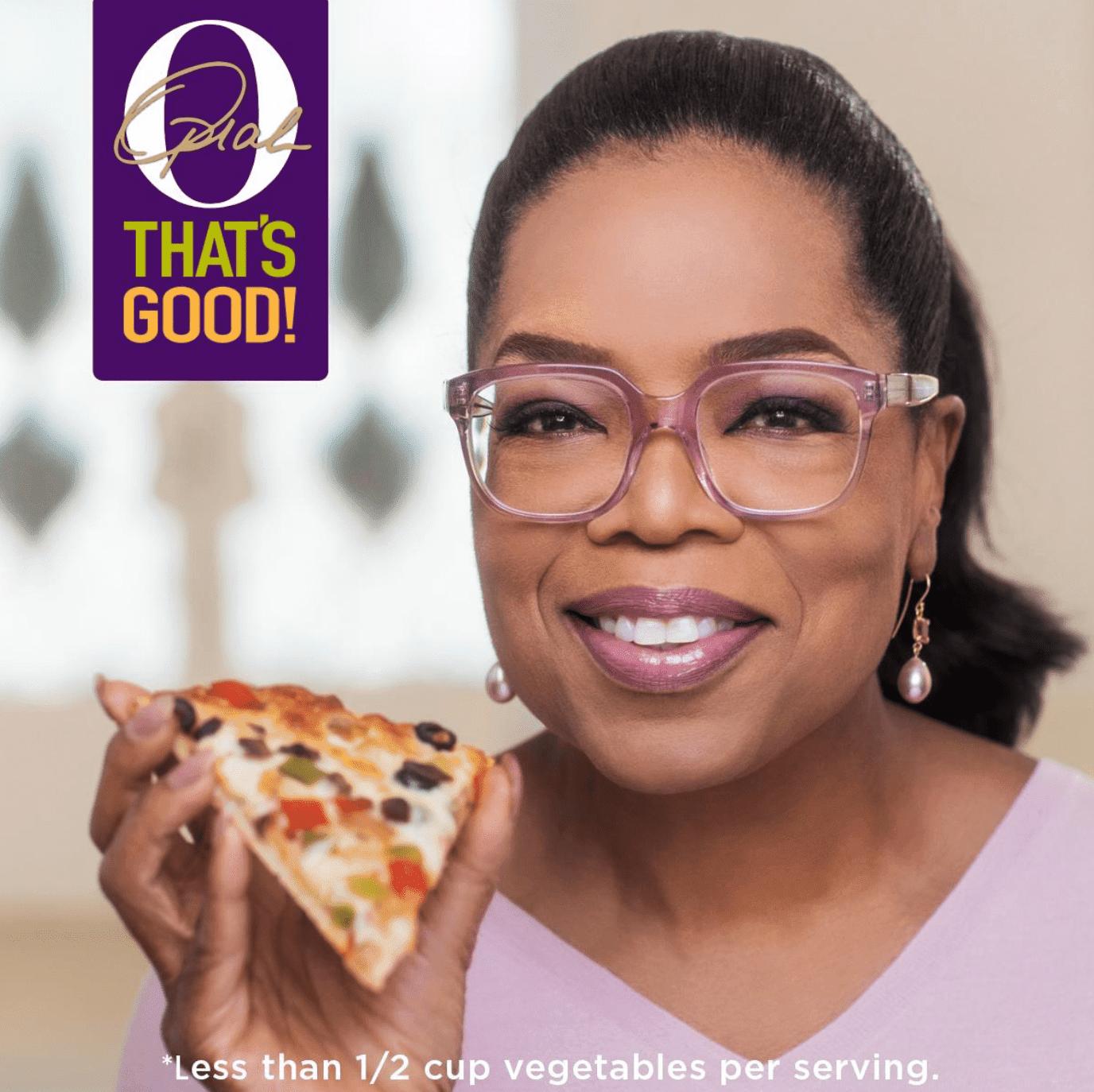 Oprah enjoy's O, That's Good frozen pizza | Facebook