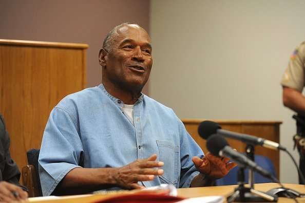 O.J. Simpson at a parole hearing at Lovelock Correctional Center | Photo: Getty Images