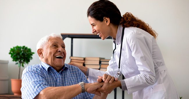 A doctor talking to an older patient.   Photo: Shutterstock