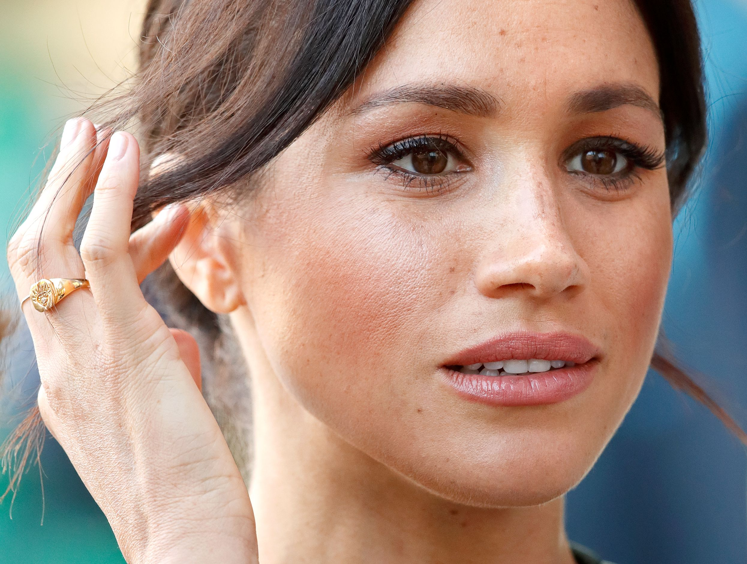 Meghan Markle visits the University of Chichester's Engineering and Technology Park on October 3, 2018 in Bognor Regis, England. | Source: Getty Images