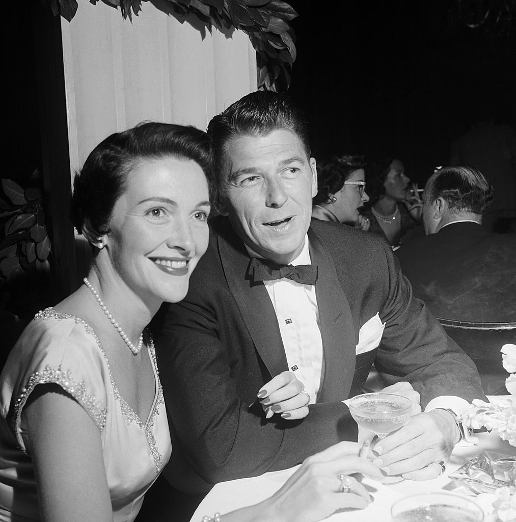 Ronald Reagan and Nancy (Davis) Reagan attending the wedding of Jack Bennys daughter Joan, March 9, 1954, California, Los Angeles.| Source: Getty Images