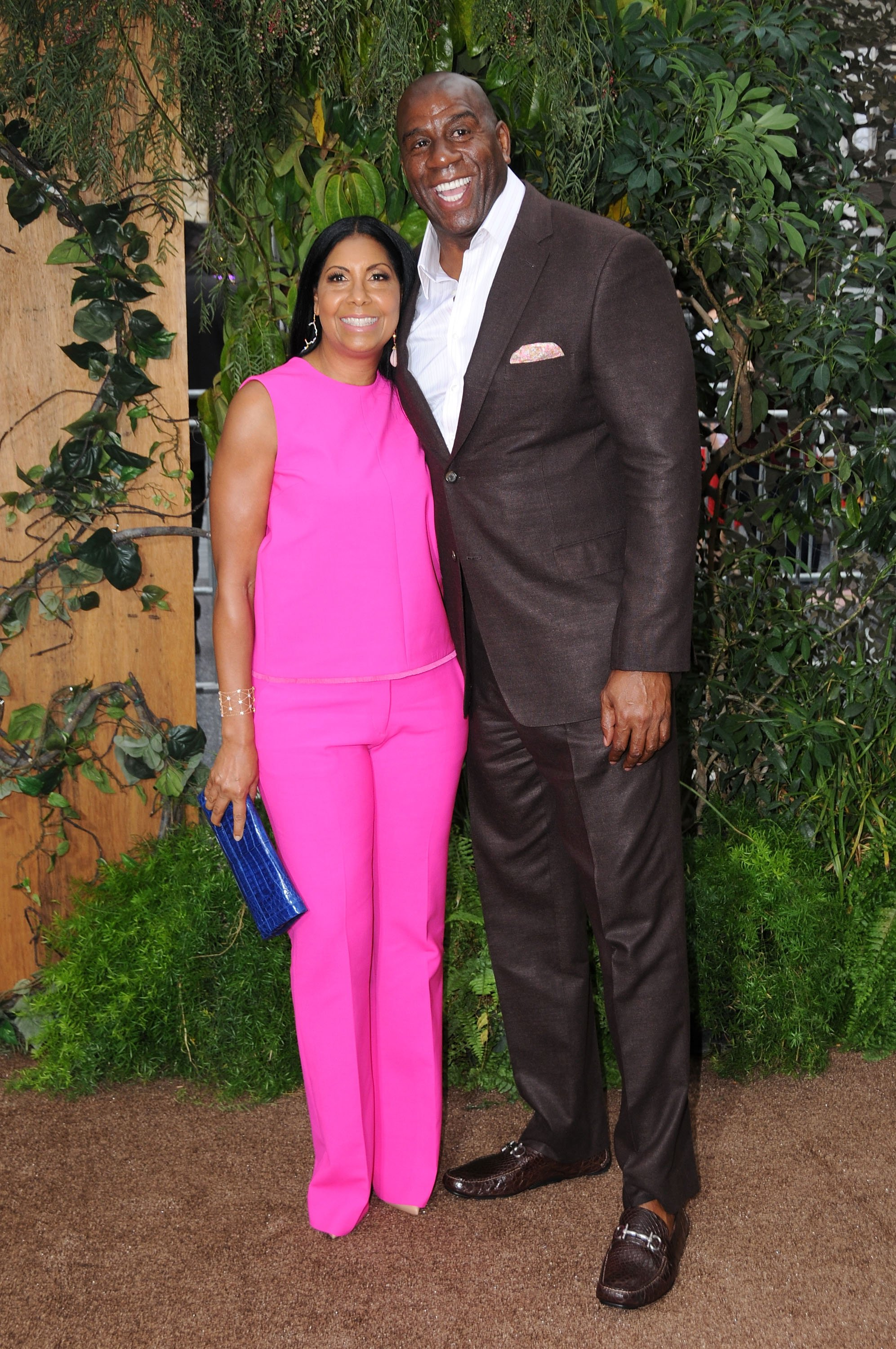 Cookie Johnson and Magic Johnson at the' 'The Legend Of Tarzan' premiere at the TCL Chinese Theatre on June 27, 2016 in Hollywood, California.|Source: Getty Images