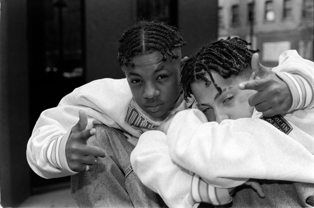 """Rap group Kris Kross (aka Chris """"Mac Daddy"""" Kelly and Chris """"Daddy Mac"""" Smith) in a portrait taken on February 24, 1992.   Photo: Getty Images"""