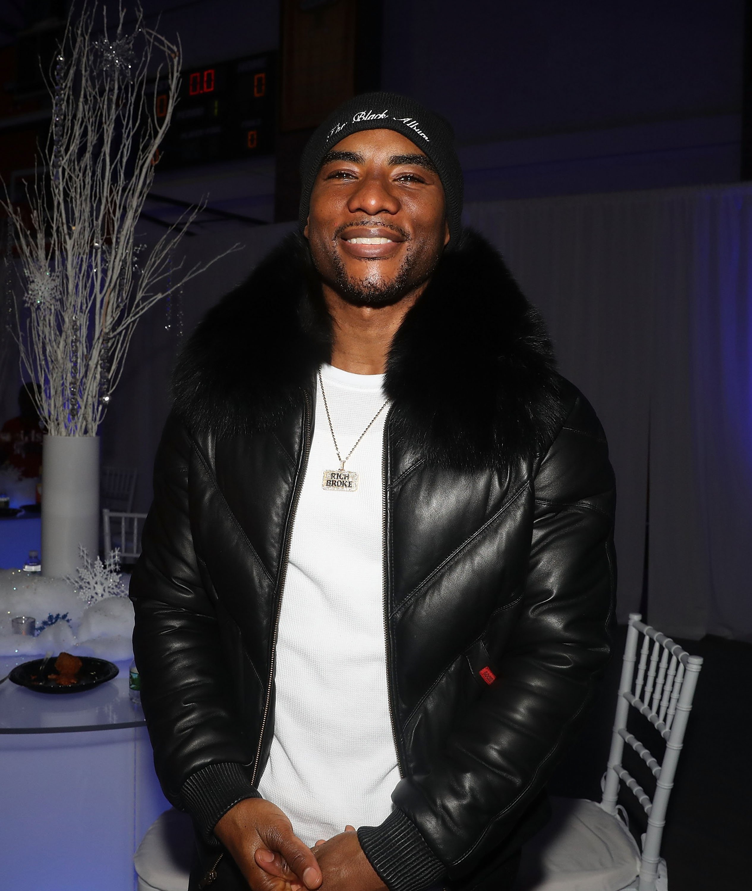Charlamagne tha God attends 3rd Annual Winter Wonderland Holiday Charity Event Hosted By La La Anthony at Gauchos Gym on December 17, 2018 | Photo: GettyImages
