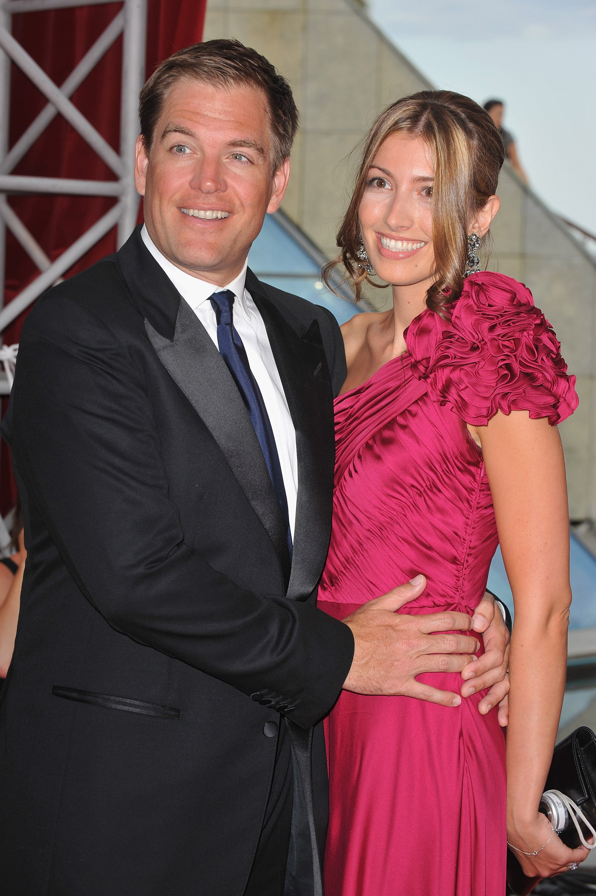 Michael Weatherly and his wife Bojana Jankovic arrive at the Closing Ceremony of the 2010 Monte Carlo Television Festival . | Source: Getty Images