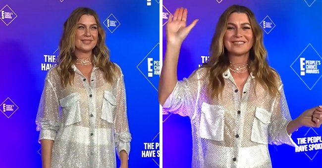 Ellen Pompeo Looks Half Her Age Rocking a Sheer Glittering Outfit at the People's Choice Awards
