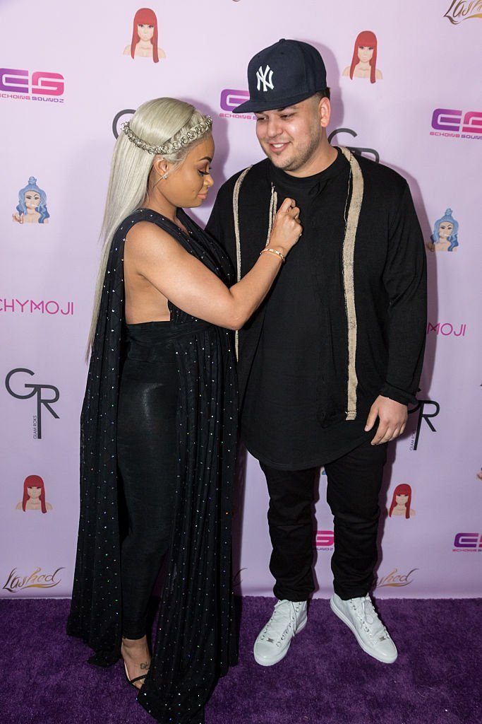 "Rob Kardashian and Blac Chyna arrive at her Blac Chyna Birthday Celebration And Unveiling Of Her ""Chymoji"" Emoji Collection at the Hard Rock Cafe 