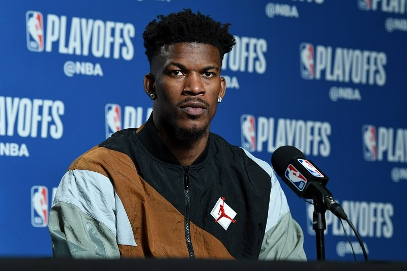 Jimmy Butler on May 12, 2019 at the Scotiabank Arena in Toronto, Ontario, Canada | Photo: Getty Images