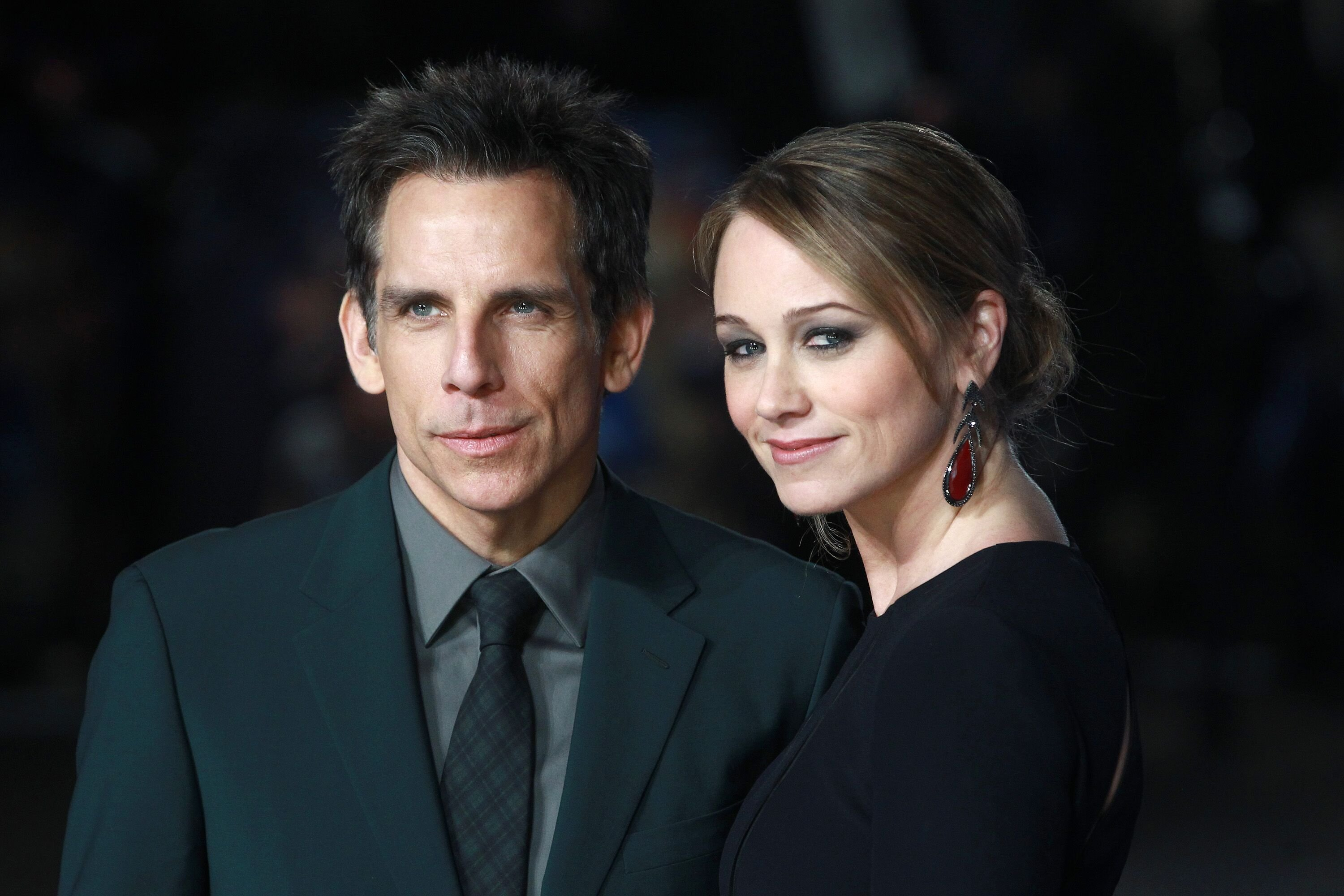 "Ben Stiller and Christine Taylor attends the UK Premiere of ""Night At The Museum: Secret Of The Tomb"" at Empire Leicester Square on December 15, 2014 in London, England. 