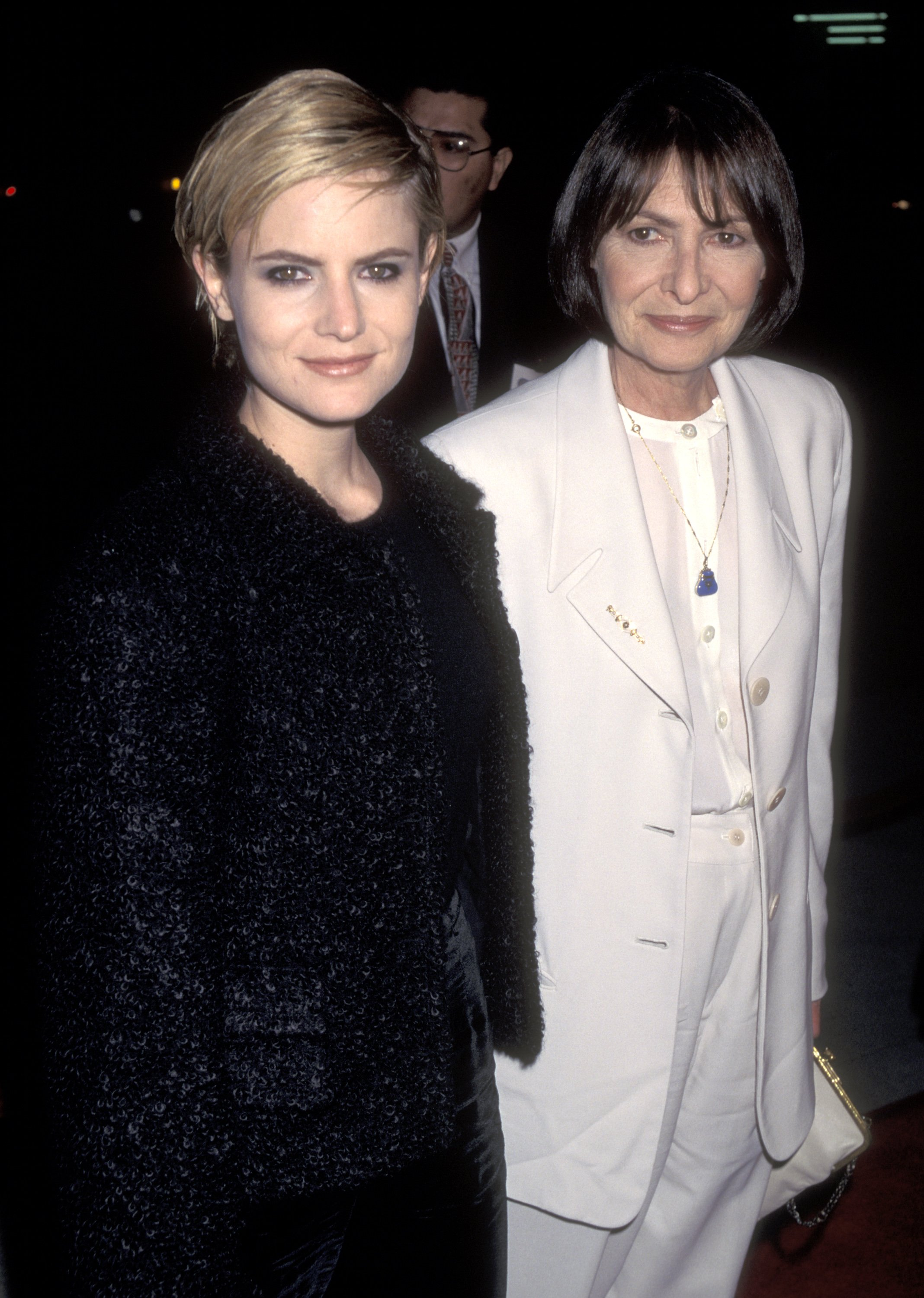 Jennifer Jason Leigh and mother Barbara Turner at the Premiere of 'Georgia', Samuel Goldwyn Theater, Beverly Hills in 1995   Source: Getty Images