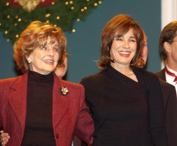 Anne Archer and Marjorie Lord on December 6, 2002 at the Scientology Celebrity Centre in Hollywood, California | Photo: Getty Images