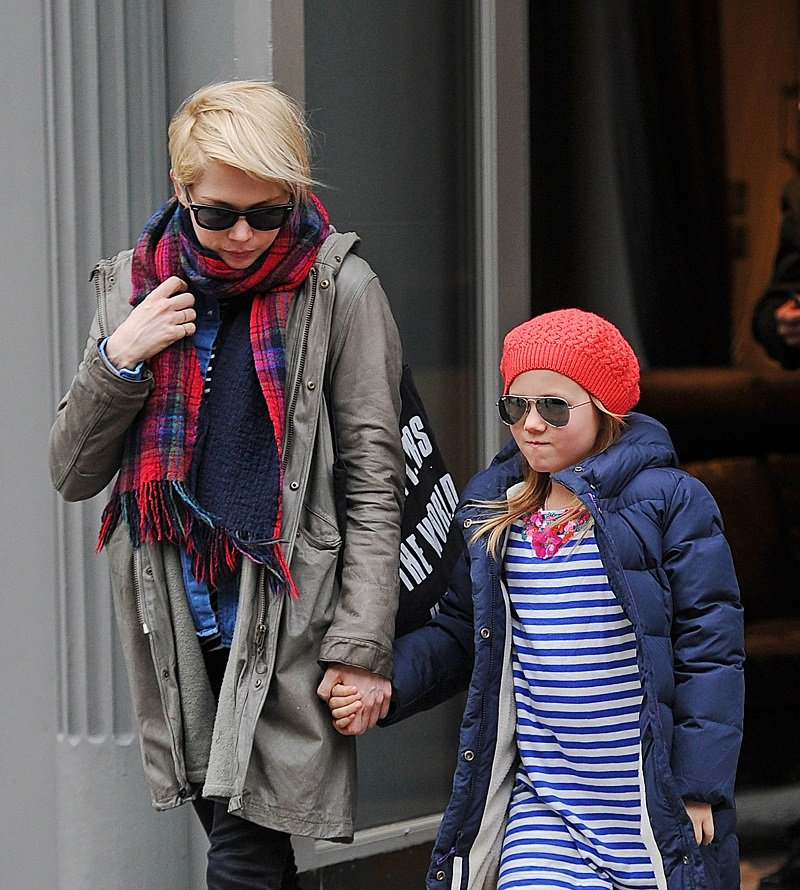 Michelle Williams and her daughter Matilda Ledger in New York City on March 6, 2013.   Photo: Getty Images