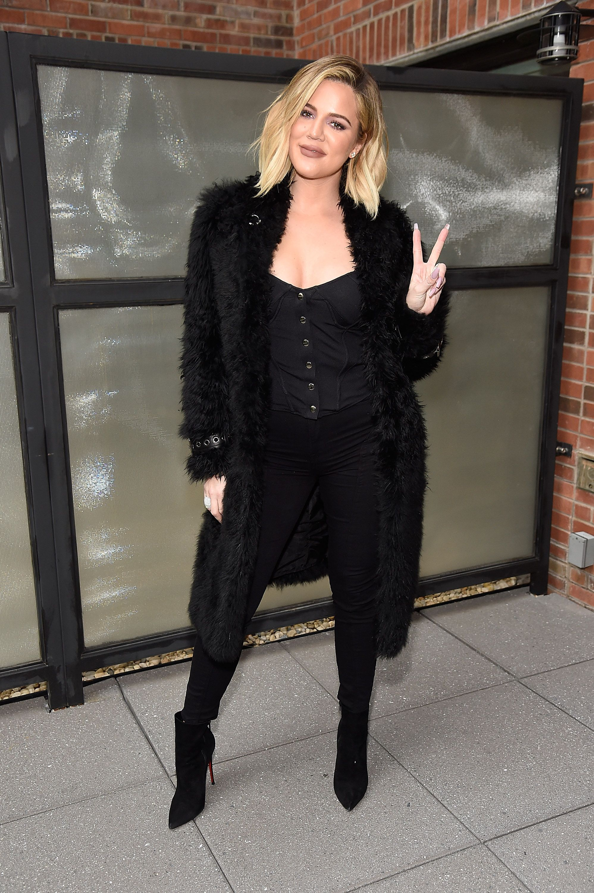 Khloe Kardashian at Good American press luncheon with Emma Grede at Arlo Soho on October 26, 2017 | Photo: Getty Images