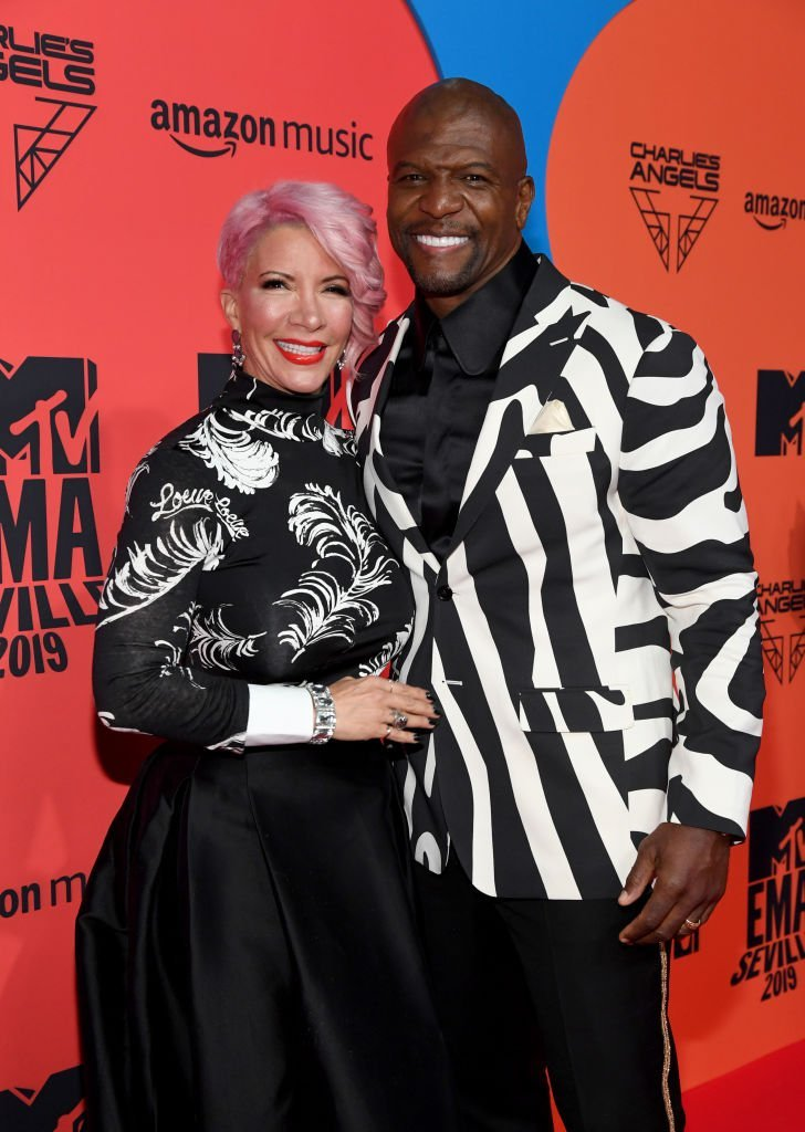 Rebecca King-Crews and Terry Crews attend the MTV EMAs 2019 at FIBES Conference and Exhibition Centre | Photo: Getty Images