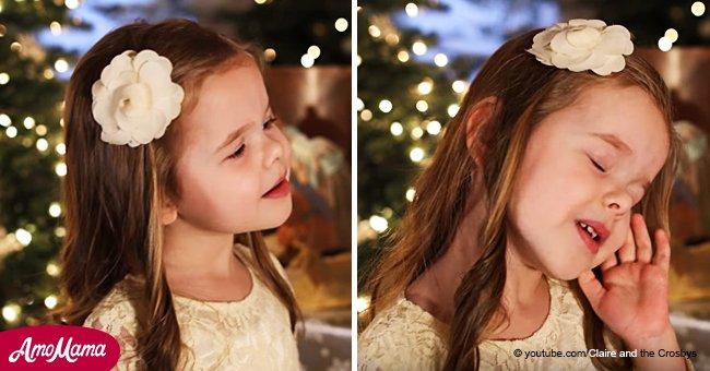 Une fillette de 4 ans ravie de chanter son chant de Noël préféré 'Sweet Night' (vidéo)