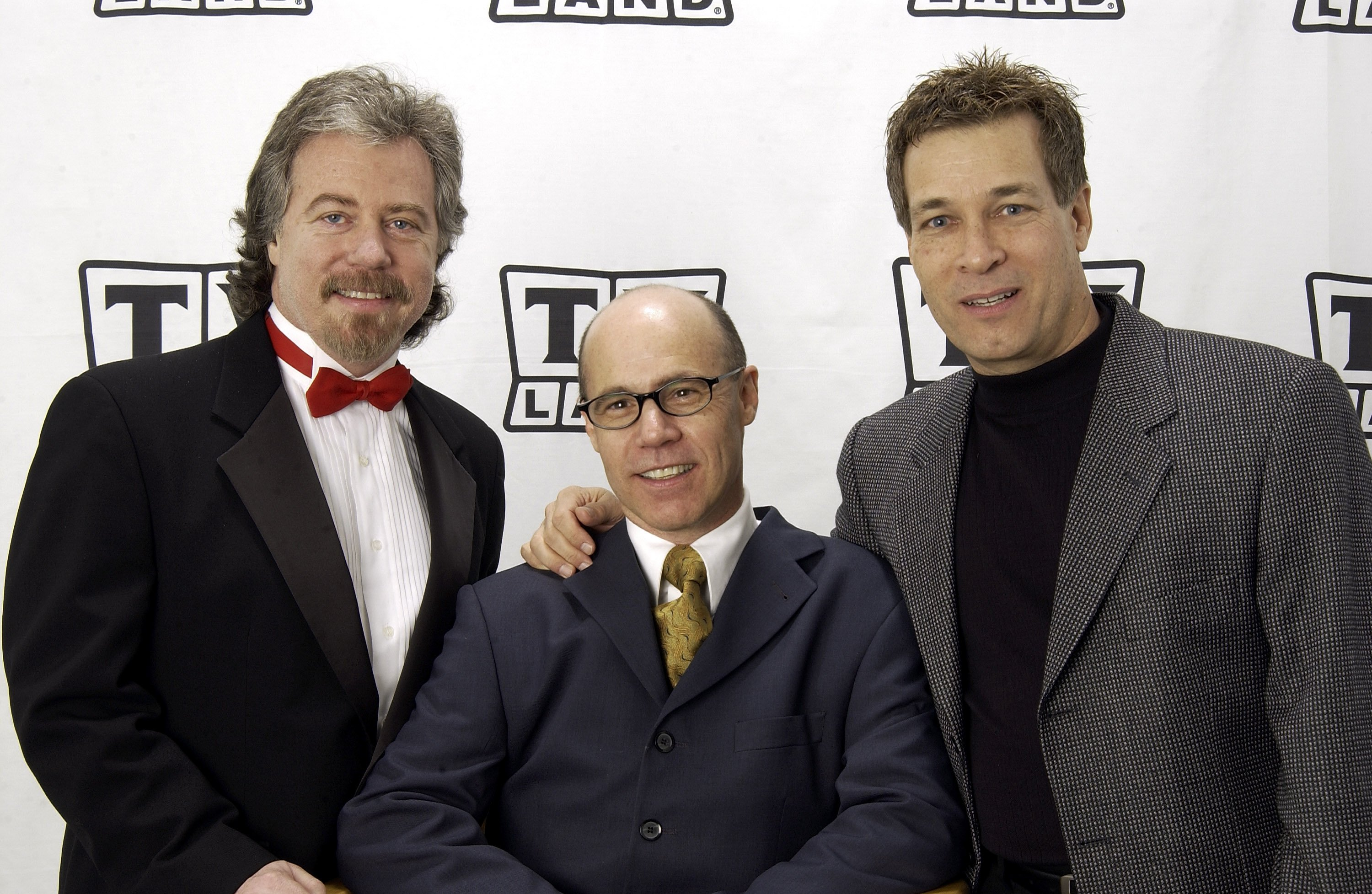 (From left to right) Stanley Livingston, Barry Livingston, and Don Grady pose together at the TV Land Awards in Hollywood, California on March 2, 2003 | Photo: Getty Images