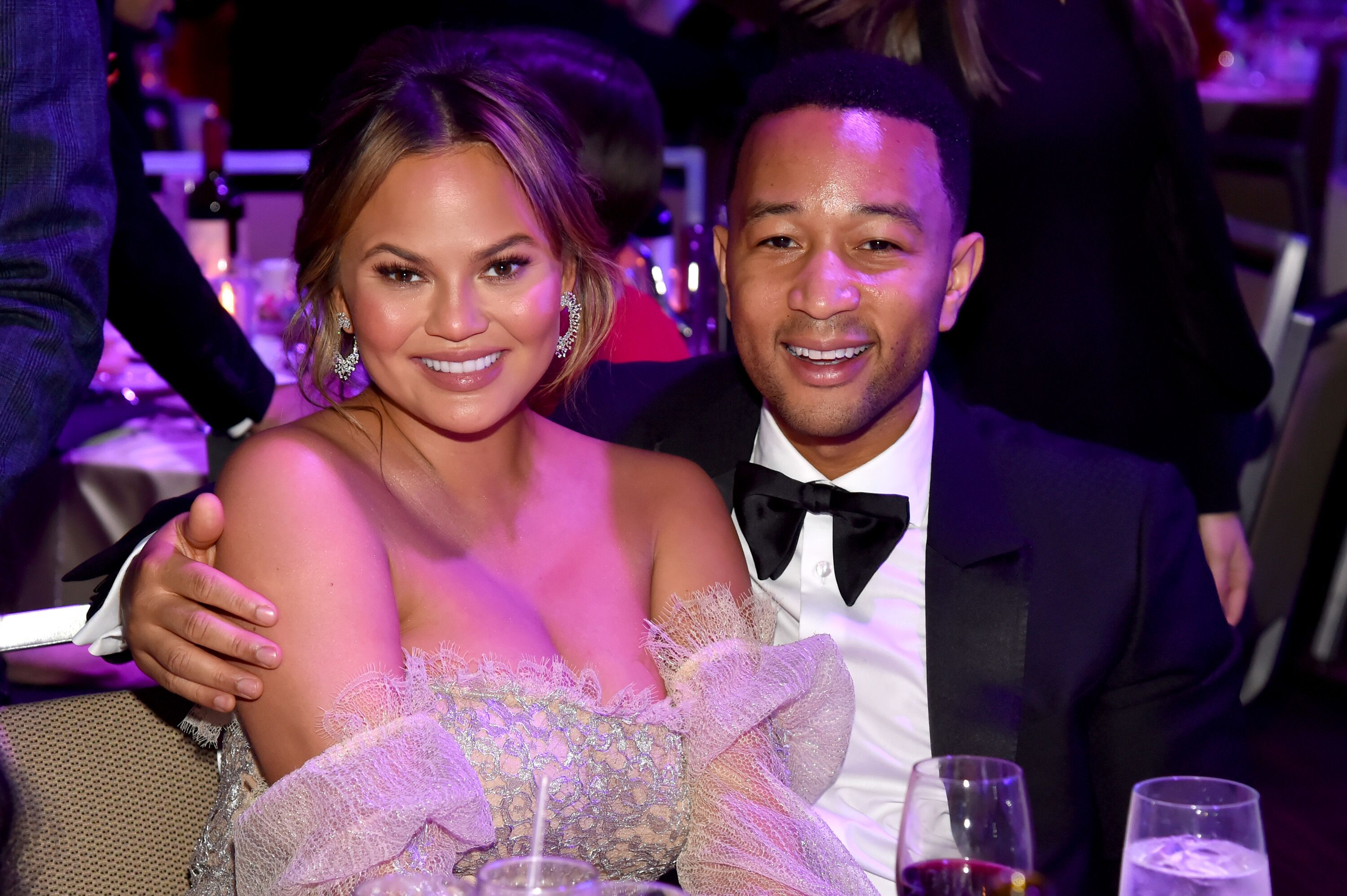 Singer John Legend and his wife Chrissy Teigen/ Source: Getty Images