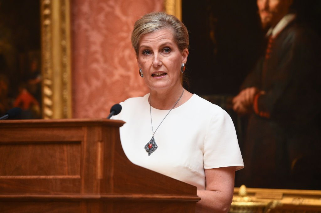 Sophie, Countess of Wessex speaks during a reception to celebrate the work of the Queen Elizabeth Diamond Jubilee Trust at Buckingham Palace | Photo: Getty Images