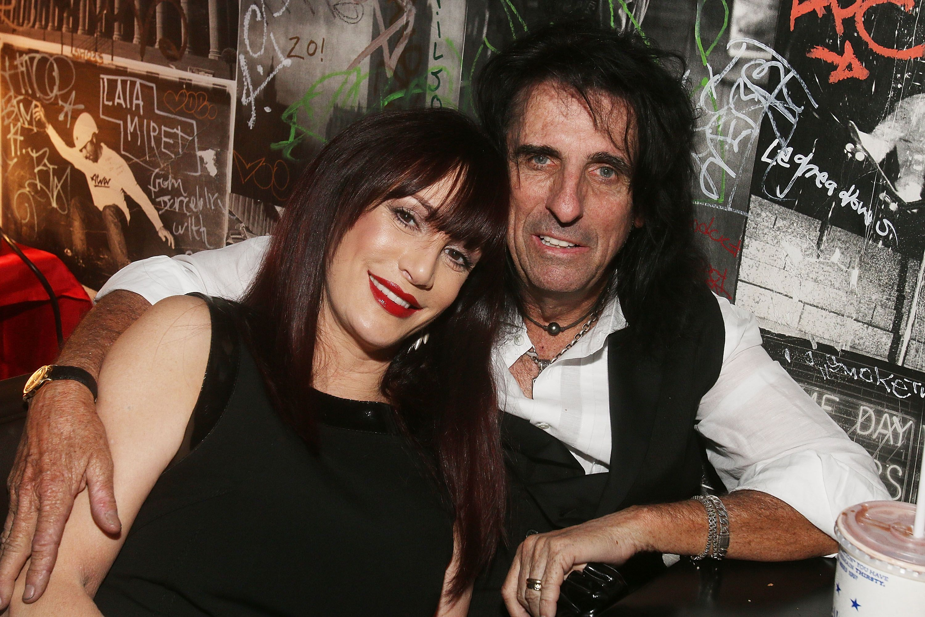 """Alice Cooper and wife Sheryl Cooper at the after party for the premiere of """"Super Duper Alice Cooper"""" during the 2014 Tribeca Film Festival in New York City   Source: Getty Images"""