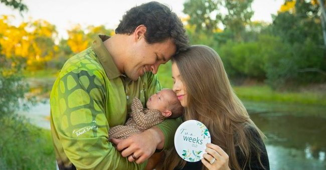 Chandler Powell Shares Photo of Wife Bindi Irwin Cuddling 2-Month-Old Baby Grace