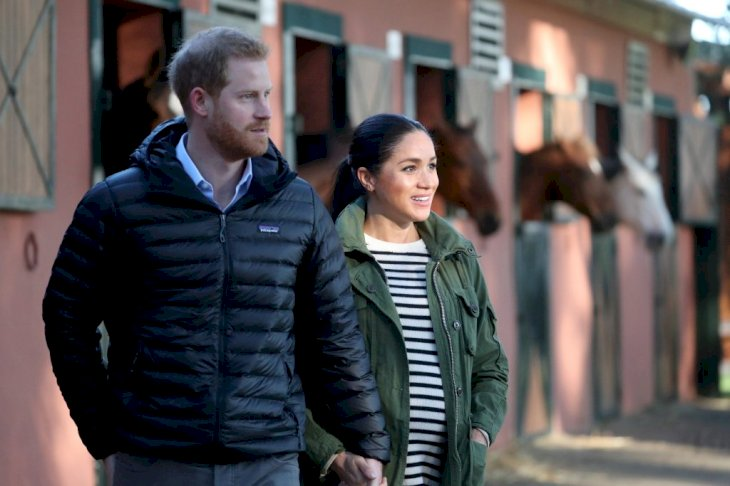 Prince Harry, Duke of Sussex and Meghan, Duchess of Sussex visit the Moroccan Royal Federation of Equitation Sports, Photo: Getty Images