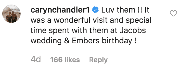 Caryn Chandler comments on a picture of Matt Roloff with his parents | Source: instagram.com/mattrollof