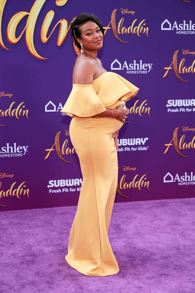 "Tatyana Ali attends the premiere of Disney's ""Aladdin"" 