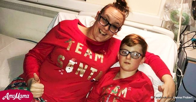 11-year-old returns home for his last Christmas