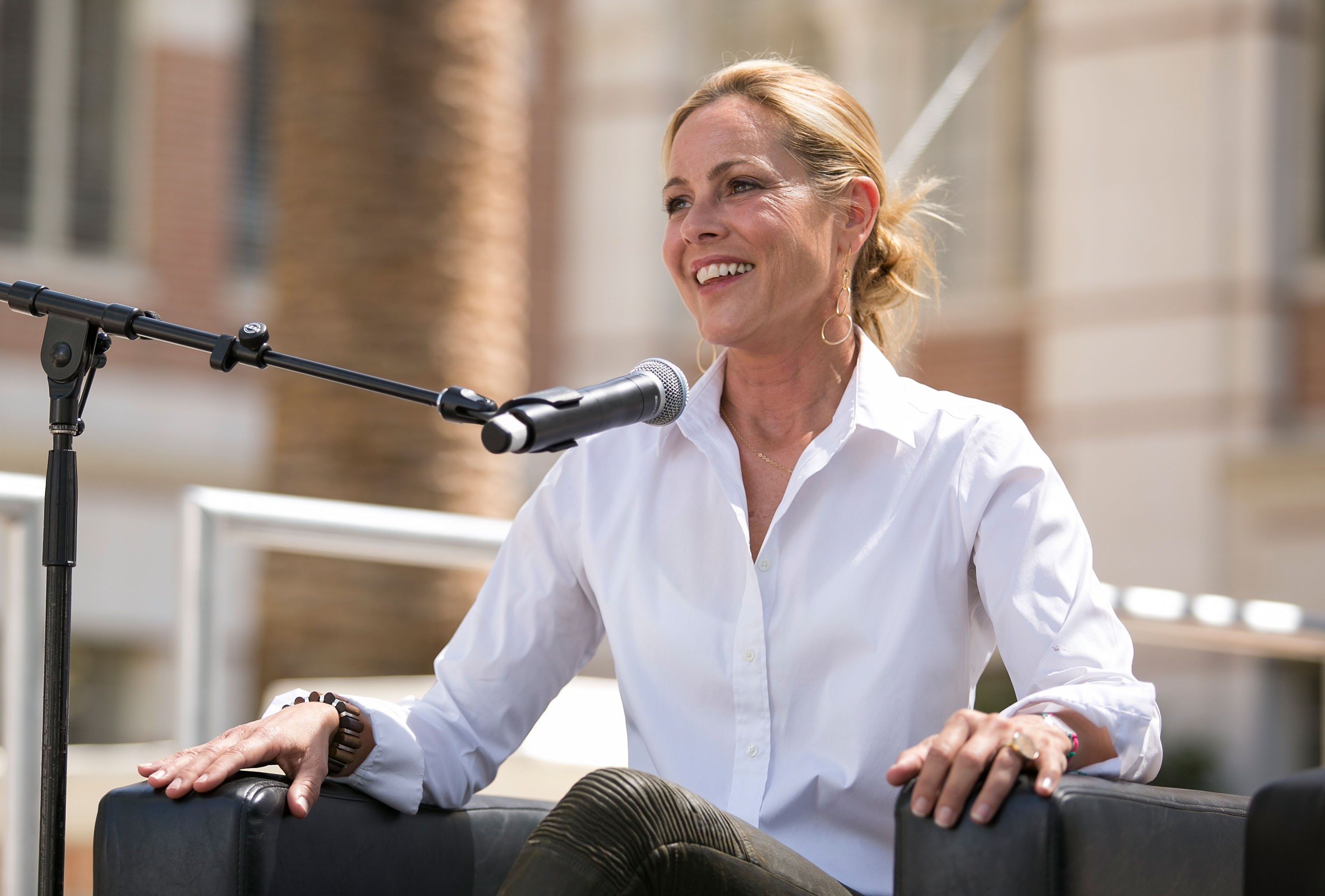 Maria Bello attends the 2015 Los Angeles Times Festival of Books at USC on April 18, 2015 | Photo: GettyImages