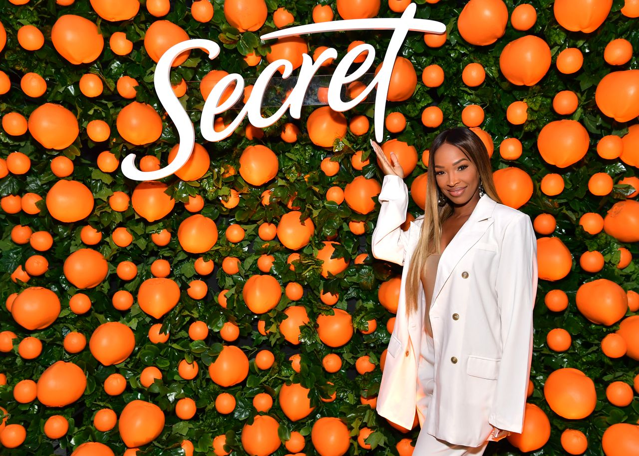 """Malika Haqq during the """"Secret with Essential Oils"""" launch party at Villa 2024 on October 01, 2019 in Beverly Hills, California. 