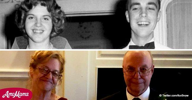 Ein fast 70 Jahre altes Paar heiratet 57 Jahre später, nachdem sie Kontakt zueinander verloren hatten